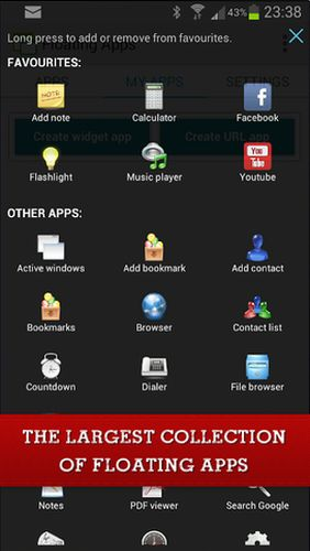 Floating apps (multitasking) app for Android, download programs for phones and tablets for free.