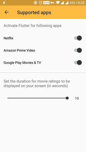 Flutter - Instant movie ratings