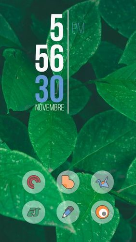 Screenshots des Programms Fluxo - Icon pack für Android-Smartphones oder Tablets.