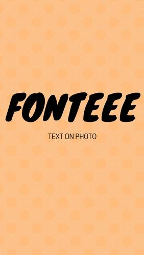 Fonteee: Text on photo