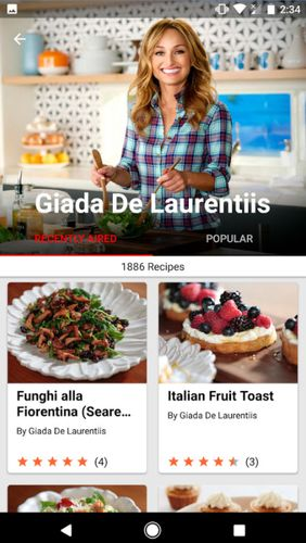 Aplicativo Food network in the kitchen para Android, baixar grátis programas para celulares e tablets.