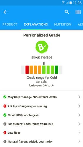 Aplicativo Fooducate: Healthy weight loss & calorie counter para Android, baixar grátis programas para celulares e tablets.