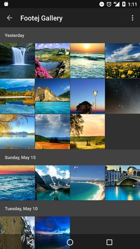 Screenshots of Footej camera program for Android phone or tablet.