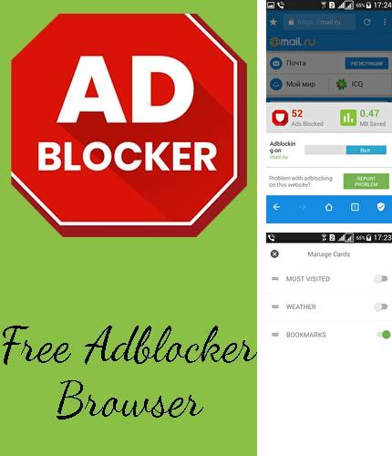 Descargar gratis Free adblocker browser - Adblock & Popup blocker para Android. Apps para teléfonos y tabletas.