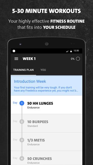 Freeletics Bodyweight app for Android, download programs for phones and tablets for free.