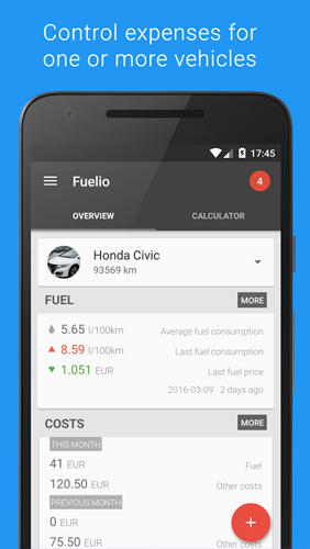Fuelio: Gas and Costs app for Android, download programs for phones and tablets for free.