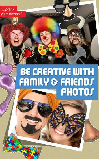 Screenshots of Funtastic Face program for Android phone or tablet.