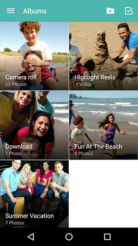 Capturas de tela do programa Motorola gallery em celular ou tablete Android.