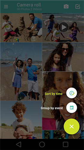 Screenshots of Motorola gallery program for Android phone or tablet.