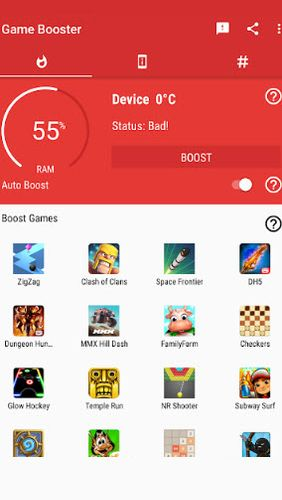 Descargar gratis Game booster: Play games faster & smoother para Android. Programas para teléfonos y tabletas.