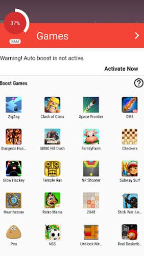 Game booster: Play games faster & smoother app for Android, download programs for phones and tablets for free.