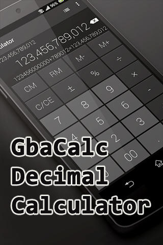 Gbacalc decimal calculator