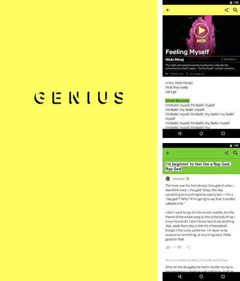 除了Cloud Print Android程序可以下载Genius: Song and Lyrics的Andr​​oid手机或平板电脑是免费的。