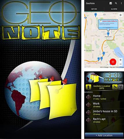 Besides Bolo - Your personal voice assistant Android program you can download Geo note for Android phone or tablet for free.