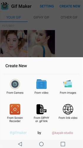 GIF maker - GIF editor app for Android, download programs for phones and tablets for free.