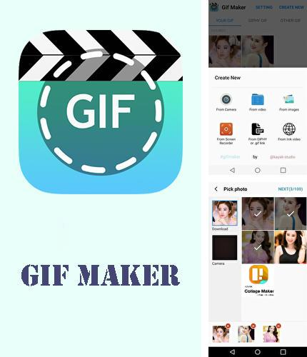 Besides Doogle Android program you can download GIF maker - GIF editor for Android phone or tablet for free.