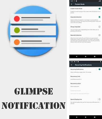 Además del programa APRROW: Personalize, discover and share apps para Android, podrá descargar Glimpse notifications para teléfono o tableta Android.