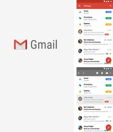 Besides Square home Android program you can download Gmail for Android phone or tablet for free.