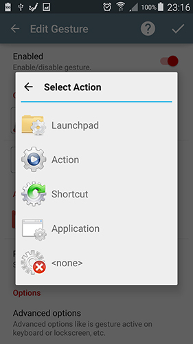 Screenshots of GMD hide bar program for Android phone or tablet.