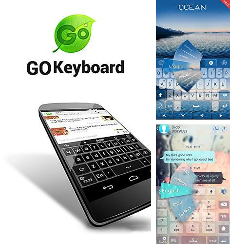 Besides iPhone 5 clock Android program you can download GO keyboard for Android phone or tablet for free.