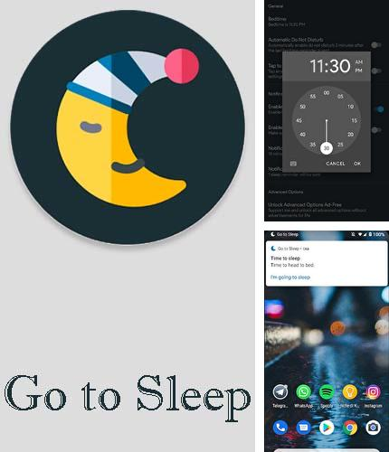 Download Go to sleep - Sleep reminder app for Android phones and tablets.