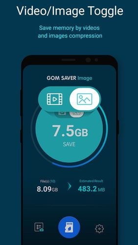 Screenshots des Programms GOM saver - Memory storage saver and optimizer für Android-Smartphones oder Tablets.