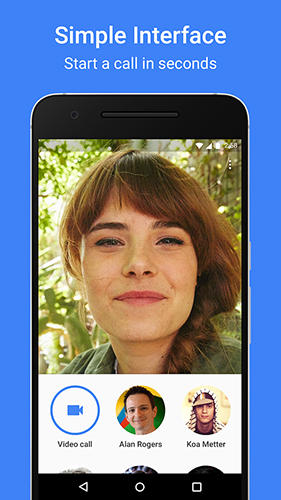 Les captures d'écran du programme Google duo pour le portable ou la tablette Android.