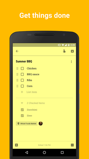 Google Keep app for Android, download programs for phones and tablets for free.