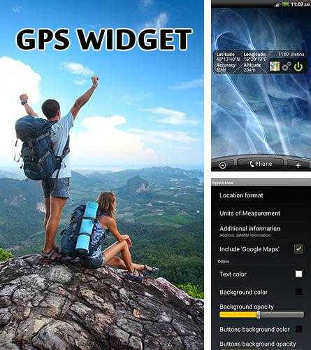 Besides Fonteee: Text on photo Android program you can download GPS widget for Android phone or tablet for free.