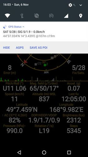 GPS status & toolbox app for Android, download programs for phones and tablets for free.