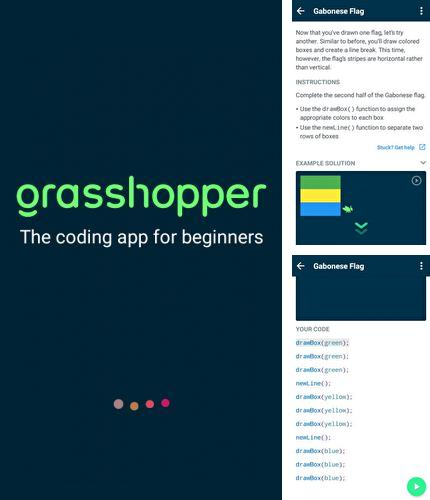 Además del programa GO Launcher HD para Android, podrá descargar Grasshopper: Learn to code for free para teléfono o tableta Android.