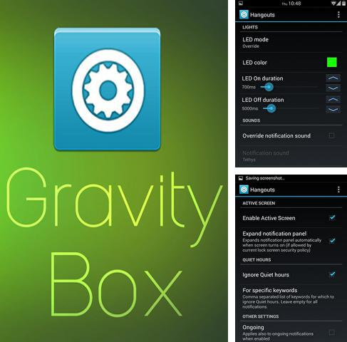Besides Zello walkie-talkie Android program you can download Gravity Box for Android phone or tablet for free.