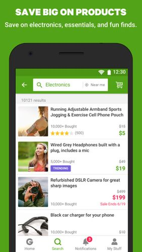 Capturas de tela do programa Groupon - Shop deals, discounts & coupons em celular ou tablete Android.