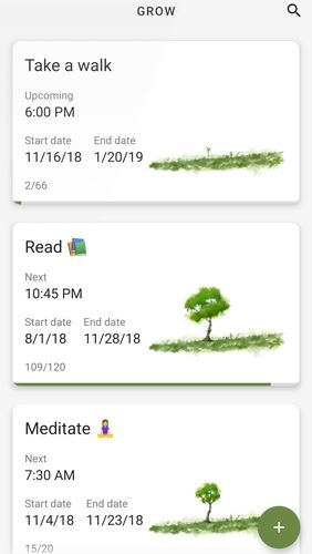 Grow - Habit tracking app for Android, download programs for phones and tablets for free.