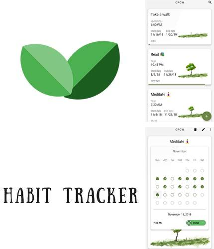 Besides Transparent clock and weather Android program you can download Grow - Habit tracking for Android phone or tablet for free.