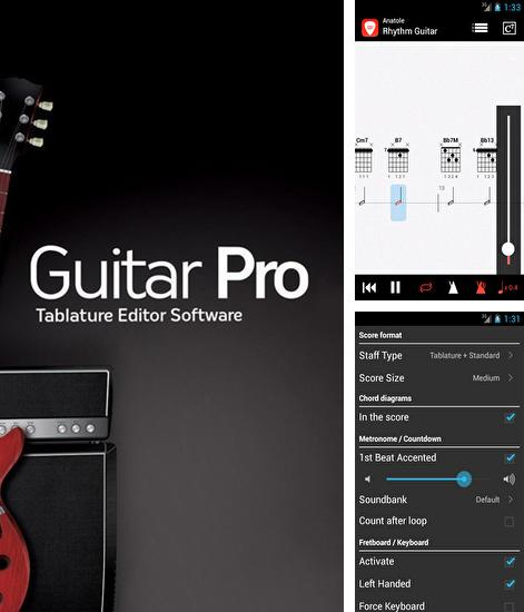 Besides Beatfind - Music recognition/visualizer Android program you can download Guitar: Pro for Android phone or tablet for free.