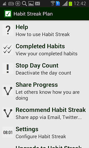 Habit streak plan app for Android, download programs for phones and tablets for free.