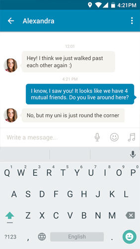 Screenshots of Happn: Local Dating program for Android phone or tablet.