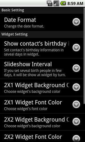 Screenshots of Happy birthday: Pro program for Android phone or tablet.