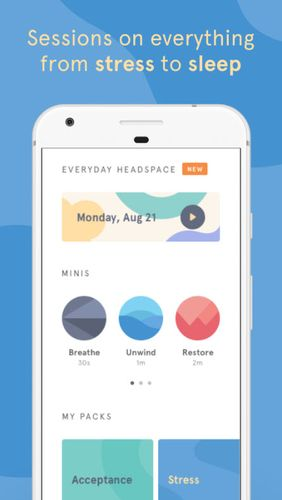 Descargar gratis Headspace: Guided meditation & mindfulness para Android. Programas para teléfonos y tabletas.