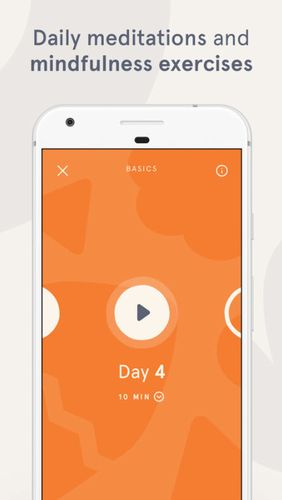 Screenshots des Programms Headspace: Guided meditation & mindfulness für Android-Smartphones oder Tablets.