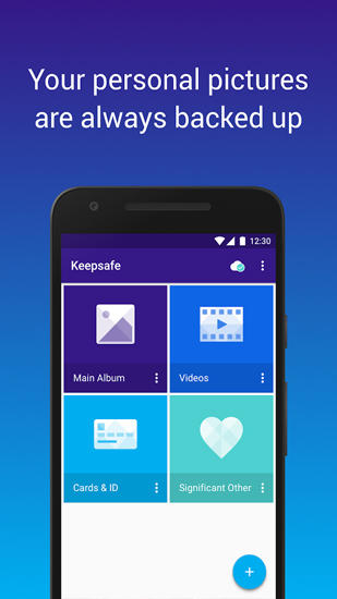 Screenshots of Keep Safe: Hide Pictures program for Android phone or tablet.
