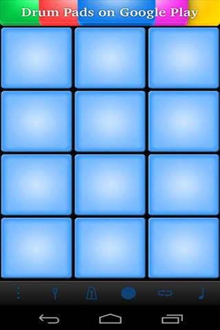 Screenshots of Hip Hop Drum Pads program for Android phone or tablet.