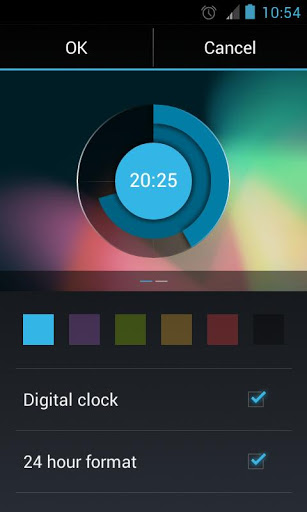 Holo Clock Widget
