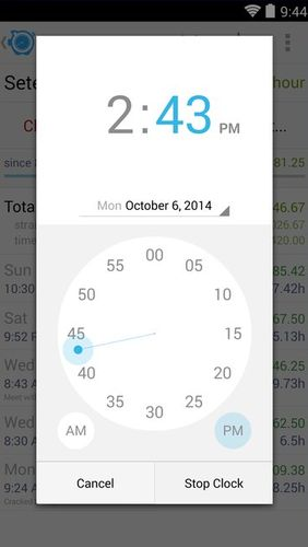 HoursTracker: Time tracking for hourly work app for Android, download programs for phones and tablets for free.