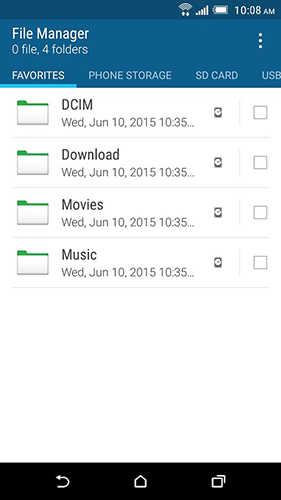 HTC file manager app for Android, download programs for phones and tablets for free.
