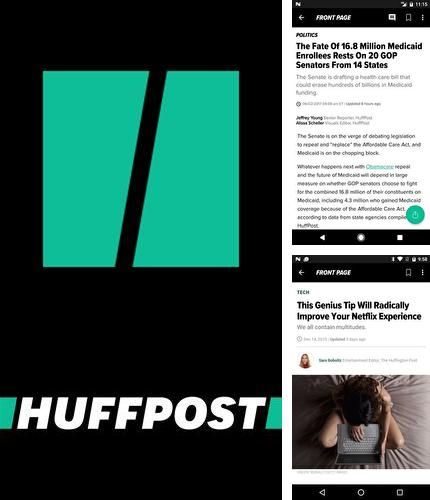 Besides Transparent clock and weather Android program you can download HuffPost - News for Android phone or tablet for free.