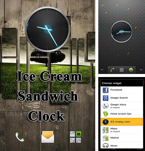 Download Ice cream sandwich clock for Android phones and tablets.