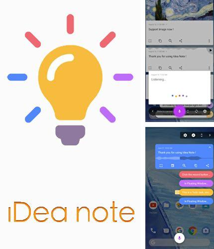 Además del programa Smart lens - Text scanner para Android, podrá descargar Idea note - Voice note, floating note, idea pill para teléfono o tableta Android.