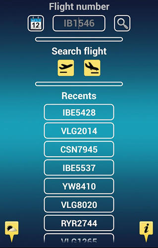 Screenshots of iFlights pro program for Android phone or tablet.
